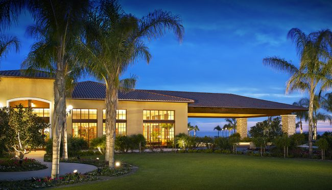 sheraton resort in carlsbad at dusk