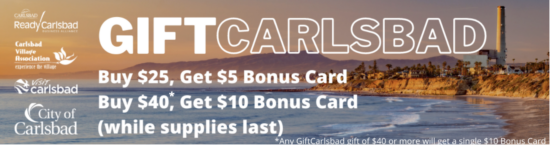 GiftCarlsbad - Gift card to Carlsbad businesses